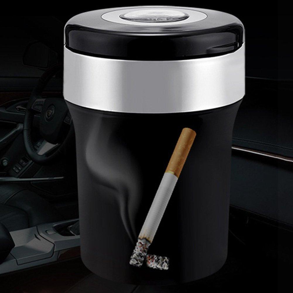 TOOGOO coche automatico con LED luz Cenicero sin humo de cigarrillos titular R