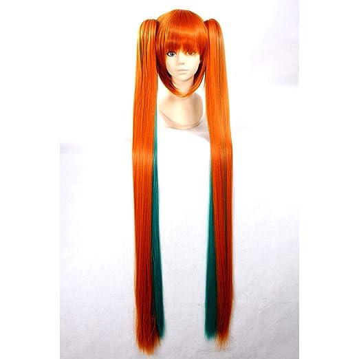 HOOLAZA naranja larga recta peluca Vocaloid Halloween ...