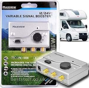 Maxview-mxl00812y 24V, TV/FM Amplificador de señal de ganancia Variable