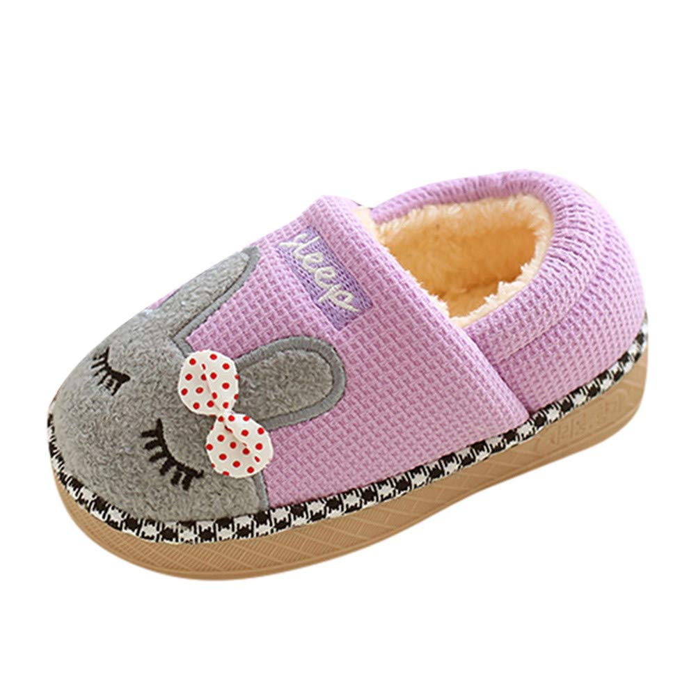 18 Months-10 Years KASSD Infant Baby Girls Boys Winter Home Slippers Cartoon Warm Indoors Floor Shoes