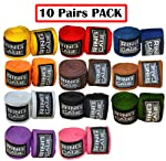 "Mexican Stretch Handwraps 180"" - (Pack of 10 Pairs) by Ring to Cage"