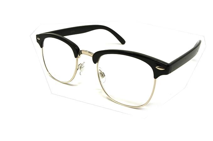 cb5f856051d ColorViper basic square reader Unisex Reading Glasses (club master shiny  black silver