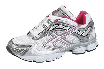 Dek T739 - Zapatillas de running para mujer, color white/fuchsia/grey, talla 36