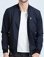Playboy 花花公子 立领纯色男士夹克衫 修身帅气运动棒球服 秋季韩版潮流质感短外套