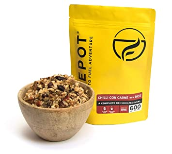 FIREPOT by Outdoorfood - Chili con carne y arroz - Comida para expediciones deshidratada y saludable