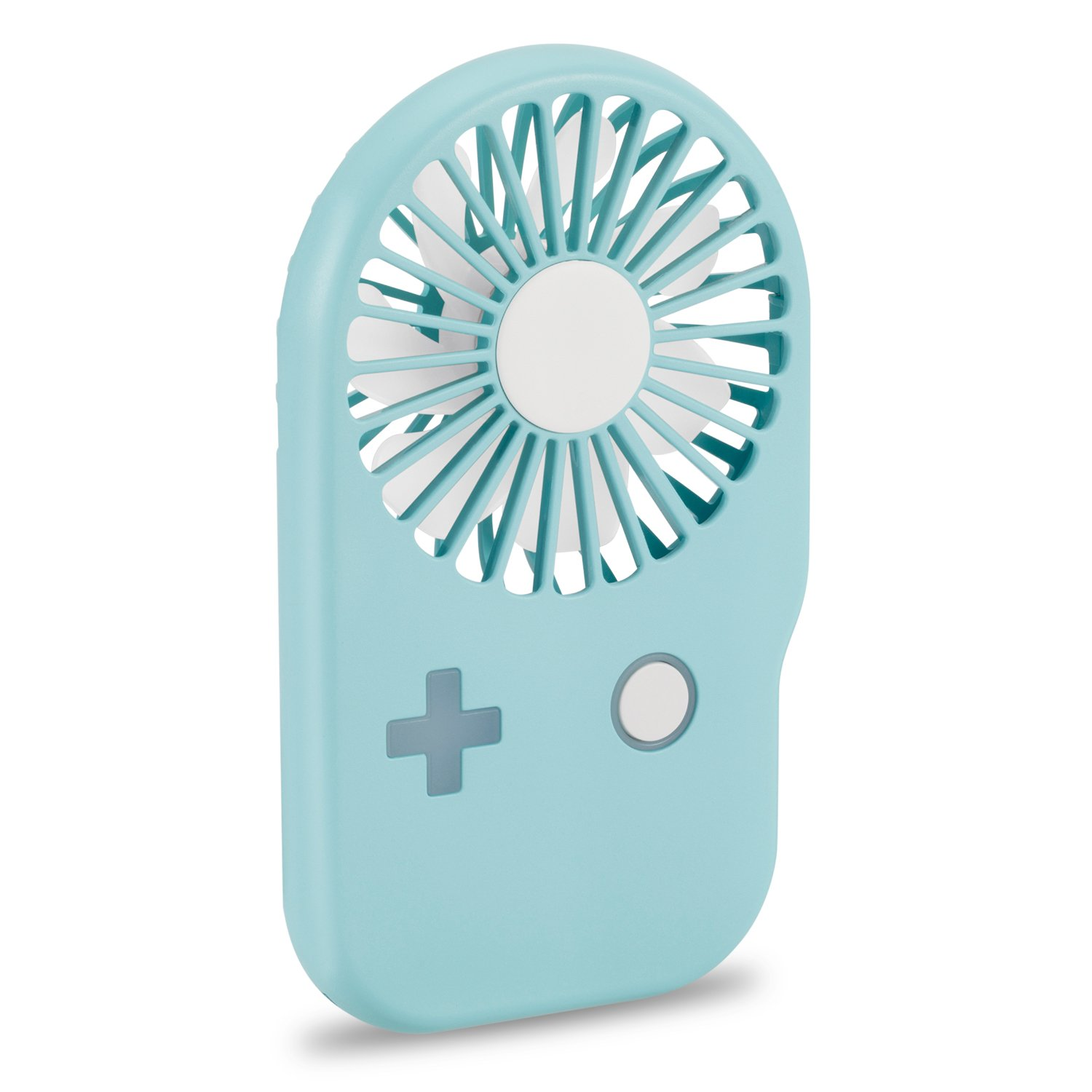 Aluan Portable Fan Mini Handheld Fan Powerful Speed Adjustable Pocket Personal Fan USB Rechargeable Cooling for Kids Girls Woman Home Office Outdoor Travel Eyelash Fan, Blue