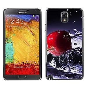 Paccase / SLIM PC / Aliminium Casa Carcasa Funda Case Cover - Fruit Macro Water Cherry - Samsung Note 3 N9000 N9002 N9005