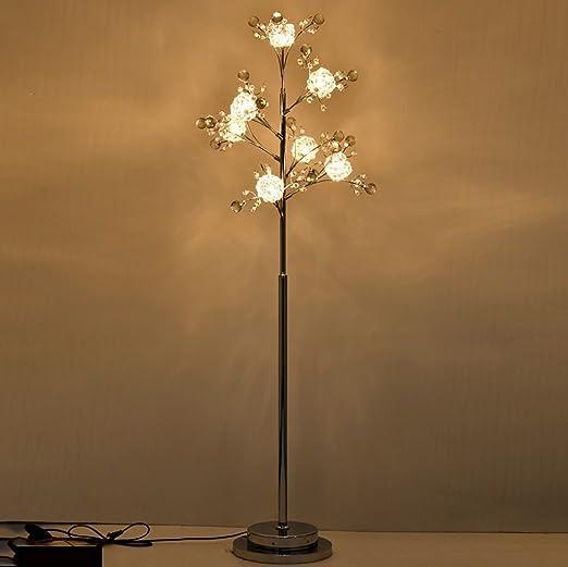 Lámparas de pie lámpara de Cristal Creativa de la Rama de árbol ...