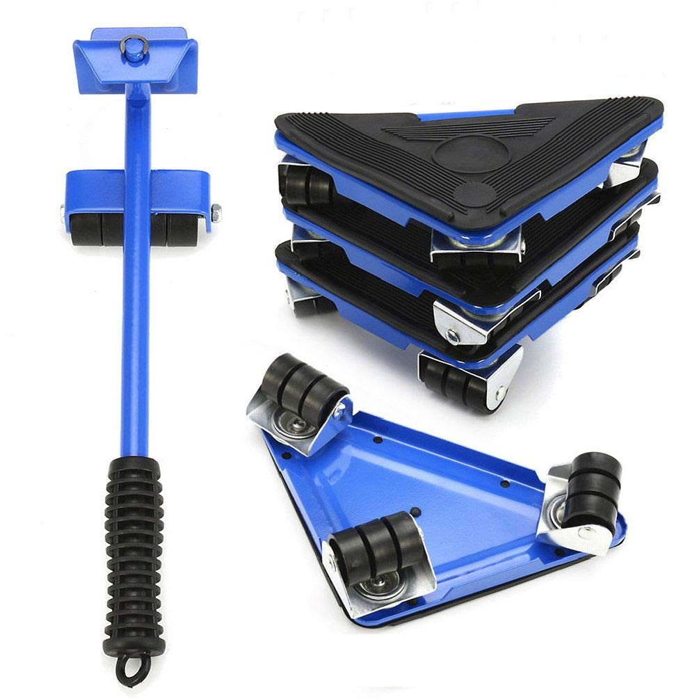 5PCS Furniture Lifter Moves Wheels Mover Sliders Kit 660 lbs Home Moving System