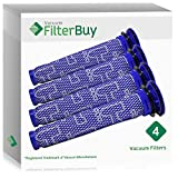 4 - FilterBuy Dyson DC59 (DC-59) Replacement Pre Filters, Part # 965661-01. Designed by FilterBuy to be Compatible with Dyson DC59 Motorhead & Dyson V6 Motorhead Cord-Free Vacuum Cleaners.