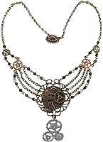 Elope Women's Steampunk Gear Chain Antique Necklace Adult