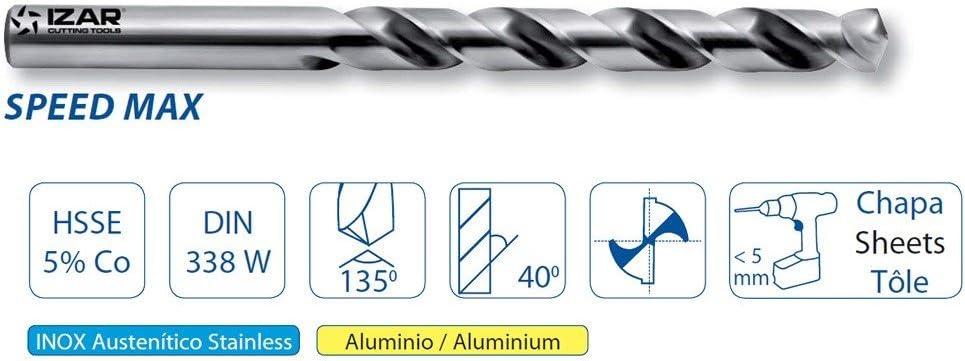 IZAR 25367 Jeu-6 forets DIN338 Vous 2-3 4-5 6-8 pour m/étal inoxydable HSSE 1020