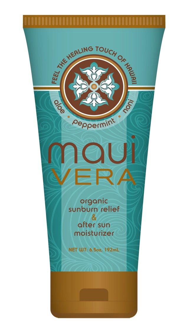 Maui Vera Organic Sunburn Relief & After Sun Moisturizer, 6.5 ounce