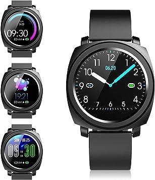 Smartwatch Reloj Inteligente - Pulsera Actividad Mujer Hombre Reloj Deportivo Inteligente, Impermeable Reloj de Fitness Tracker con Pulsometro Podometro Cronometros Relojes Inteligente Android iOS: Amazon.es: Electrónica