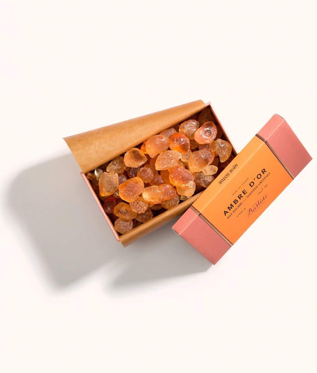 Côté Bastide - Ambre d'Or Potpourri Crystals (24.7oz / 700g) Made in France by Bastide