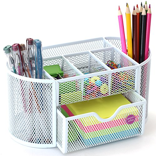 Oval Mesh Desk Organizer, 9 Compartments- (9 Compartment Desk)