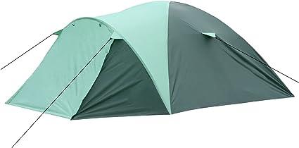 HI Familienzelt für 4 Personen Campingzelt Igluzelt grün