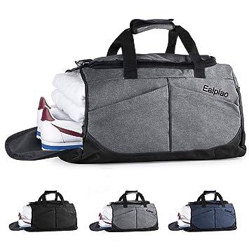 Bolsa de Deporte con Compartimento para Zapatos Viaje Impermeable Plegable Bolsa Gimnasio de Viaje Mochila Multiusos Travel Duffle Bag