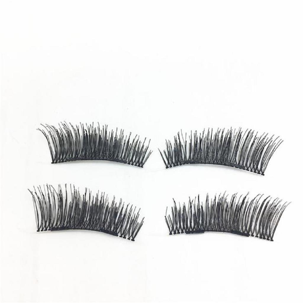 Super Beaux Cils, ABC® 1 Pair 3D Magnetic False Eyelashes Lashes Reusable False Magnet(A) Moon Princess