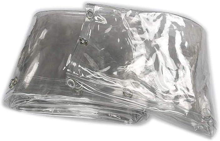 GDMING Trasparente Telone Telo Copertura Teloni Occhiellato Pesante Impermeabile Vento//Pioggia//Sole Protezione 450g//㎡ PVC Film Morbido Guarnizione Termica Durevole 44 Taglie