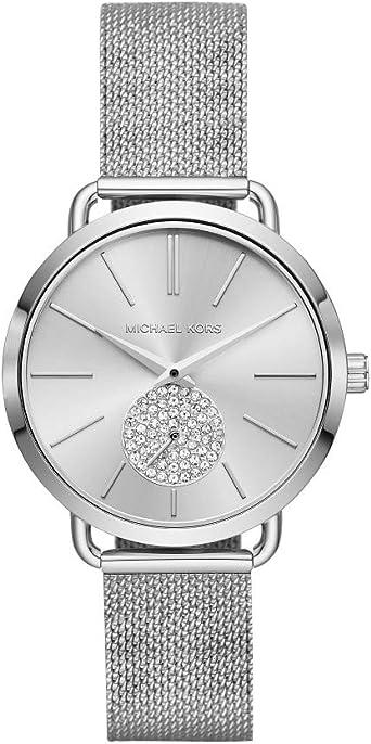 Michael Kors Women's Portia Watch Three Hand Quartz Movement Wrist Watch with Second Hand subdial