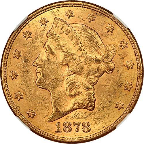 1878 S $20 Liberty Gold Twenty Dollar MS61 ()