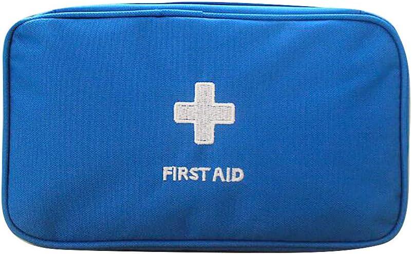 HELLOGIRL Bolsa de Almacenamiento M/édico Port/átil Kit de Primeros Auxilios Paquete M/édico Una Prueba de Agua para Viajes en Autom/óvil en El Hogar Al Aire Libre