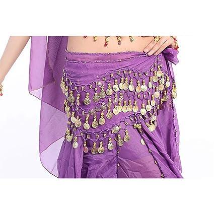 Purple Women Hip Scarf Waist Chain Belt