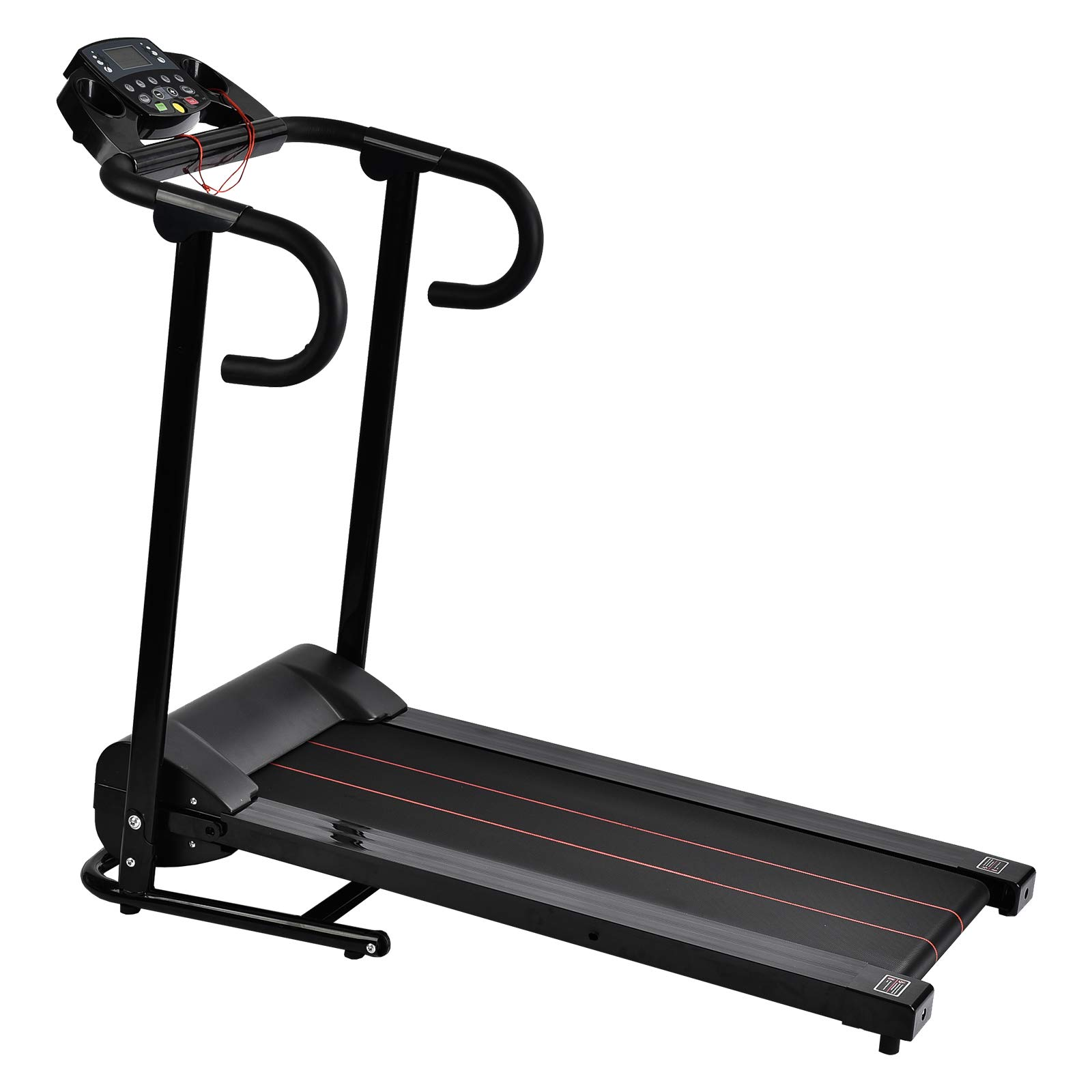Murtisol 1100W Folding Treadmill Electric Walking Running Exercise Fitness Machine with LCD Display Easy Control Home Gym by Murtisol (Image #8)
