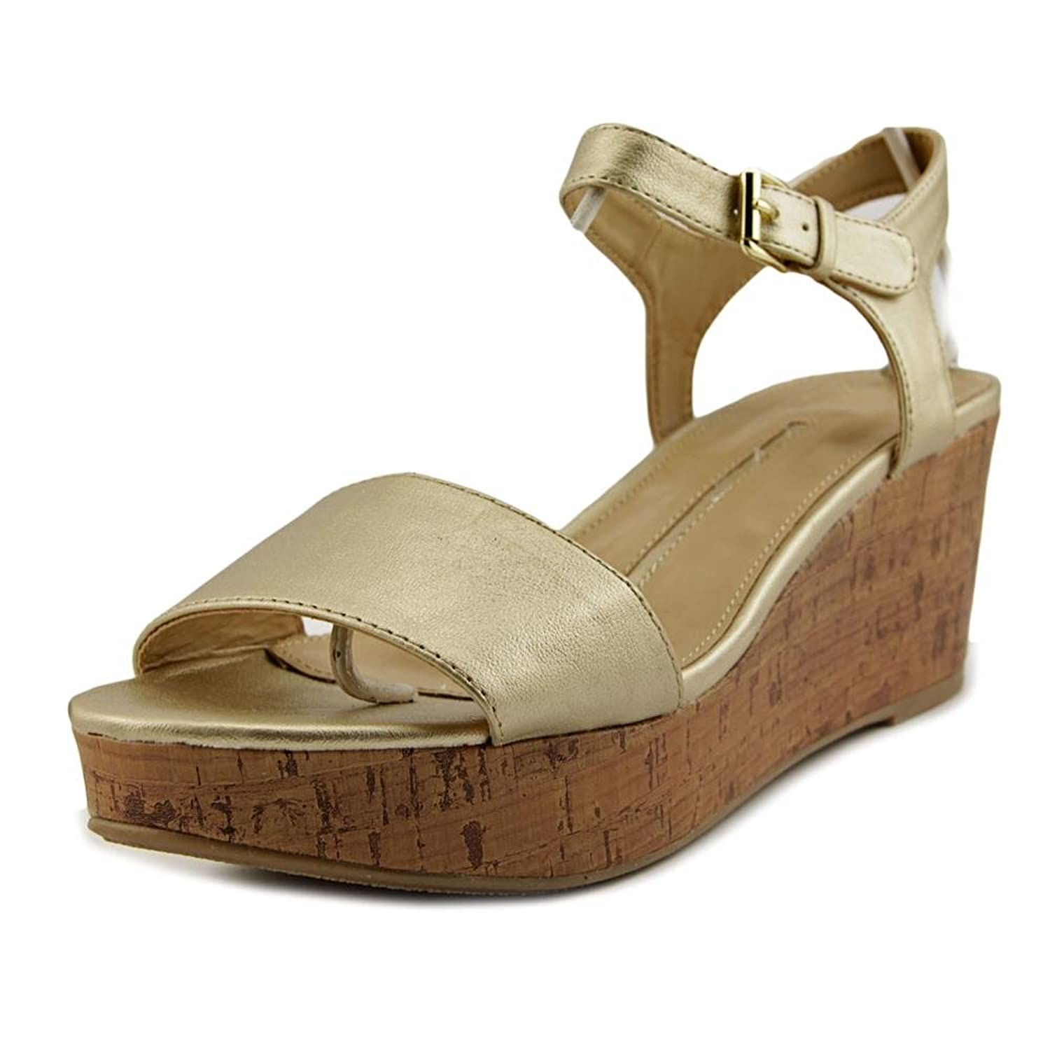 6d4c414d2df New Directions Joyce Women Open Toe Synthetic Gold Wedge Sandal  well-wreapped