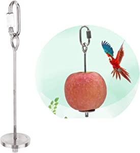 Bird Fruit Holder, Stainless Steel Bird Food Treat Skewer, Food Feed Tool for Parrot, Vegetable Hanging Feeder Toy, Chicken Fruit Holder Skewer Foraging Toy for Hens Birds Small Animals