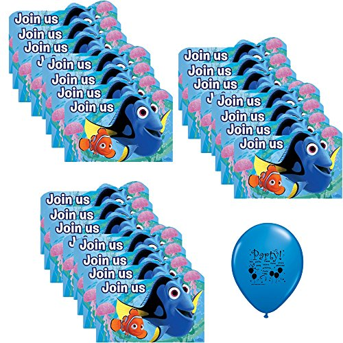 Finding Dory Birthday Party Supplies Invitation Pack]()