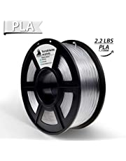 3D Hero PLA 3D Printer Filament Clear,1.75 mm,1 kg Spool(2.2lbs), Dimensional Accuracy +/- 0.02 mm(Transparent)
