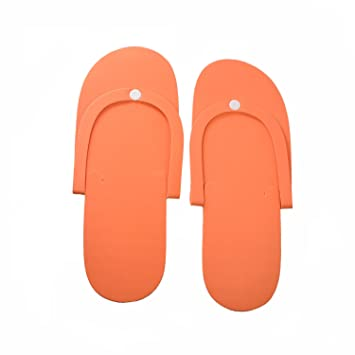 f0a8492cdd3 Amazon.com   12 Pairs Disposable Foam Pedicure Slippers Flip Flop Salon  Nail Spa   Beauty