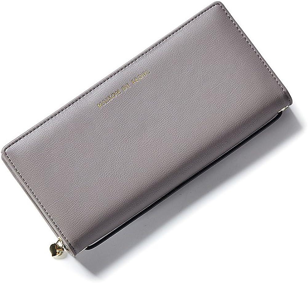 Wallet Ladies Womens Clutch UP Leather Zipper Purse Card Clutch Holder Case