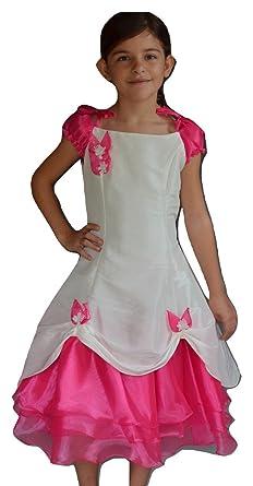 code promo 7cbfc 19478 Robe Cérémonie Fille Fuchsia Ninon: Amazon.fr: Vêtements et ...