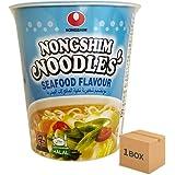 HALAL NONGSHIM NOODLES ノンシム カップめん 65g×1BOX (Seafood 海鮮味30個)