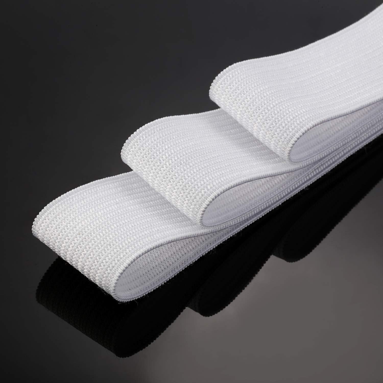 White Knit Elastic Spool 2 Inch x 11 Yard
