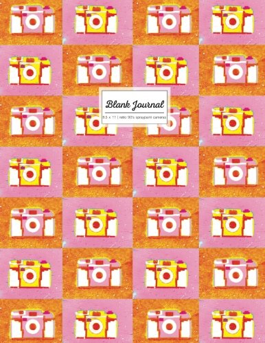 Blank Journal 8.5 x 11: Large Sketchbook, Visual Diary, Pink And Orange Retro 90's Spraypaint Cameras Cover (Empty Notebook) pdf epub