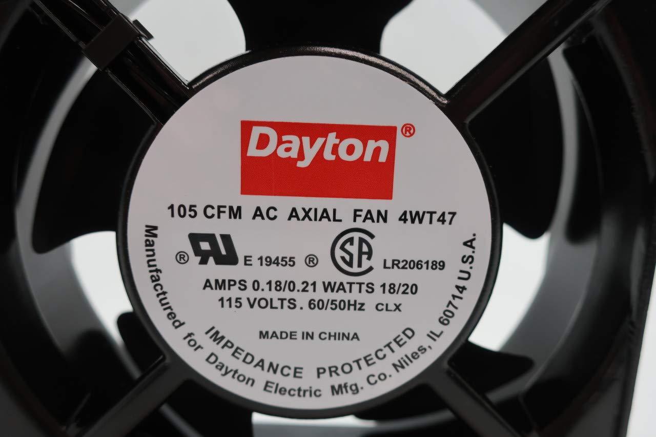 DAYTON 4WT47 AC AXIAL Fan 105CFM 115V-AC by Dayton (Image #6)
