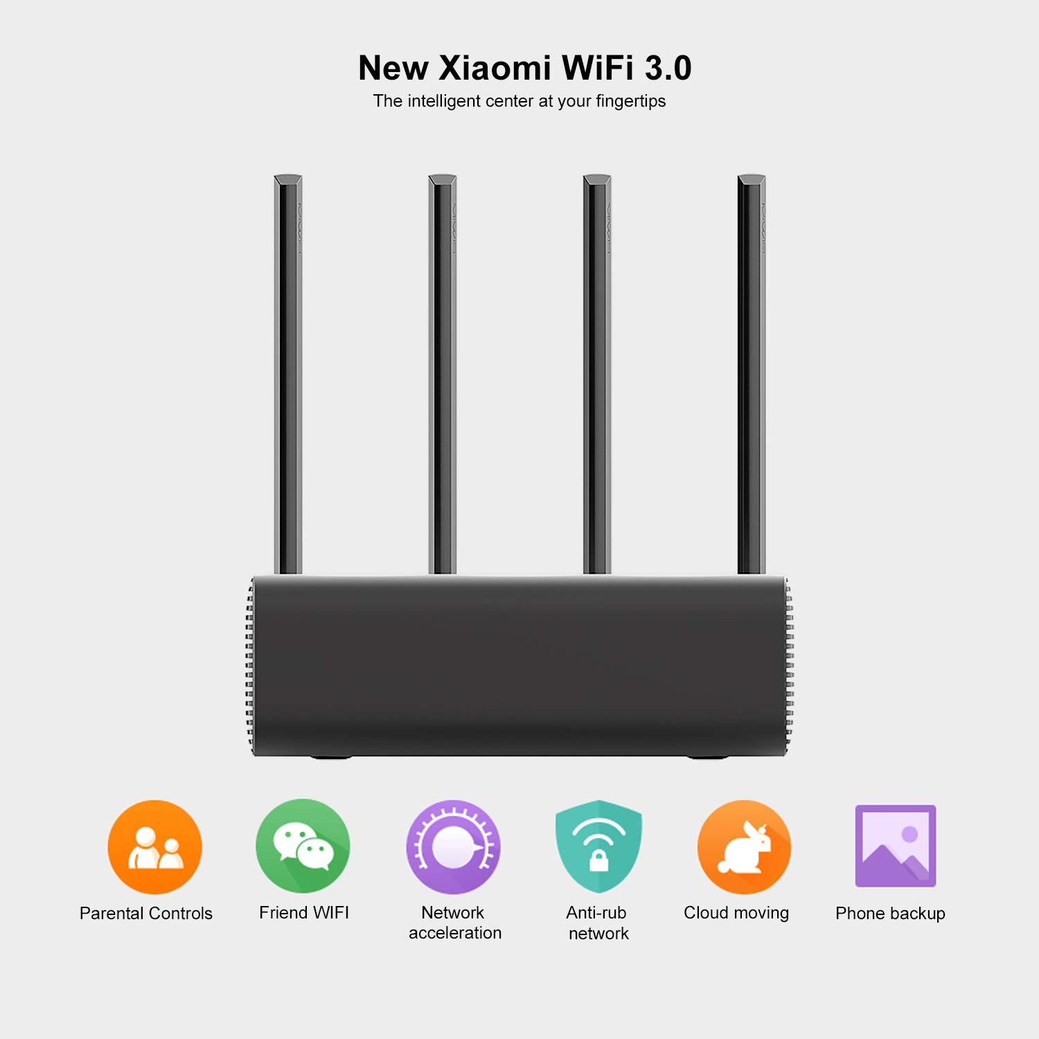 FairytaleMM Xiaomi Mi-Fi Router inalámbrico Pro repetidor ROM de Doble Flash 256 con 4 Antenas Amplificador de señal Estable y confiable(Gris): Amazon.es: ...