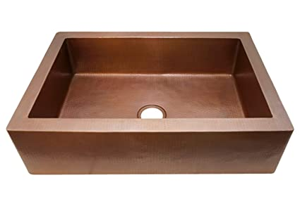 Soluna Copper Farmhouse Sink - Cafe Natural 30\