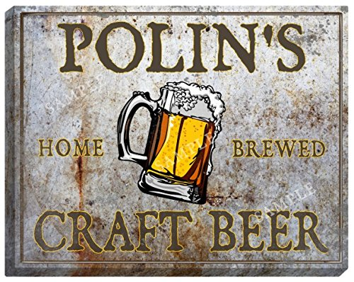 polins-craft-beer-stretched-canvas-sign
