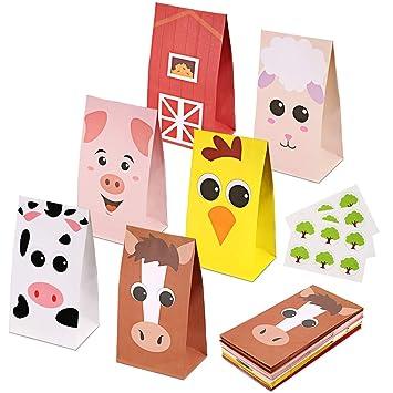 Amazon.com: RecooTic - Bolsas para fiestas de animales de ...