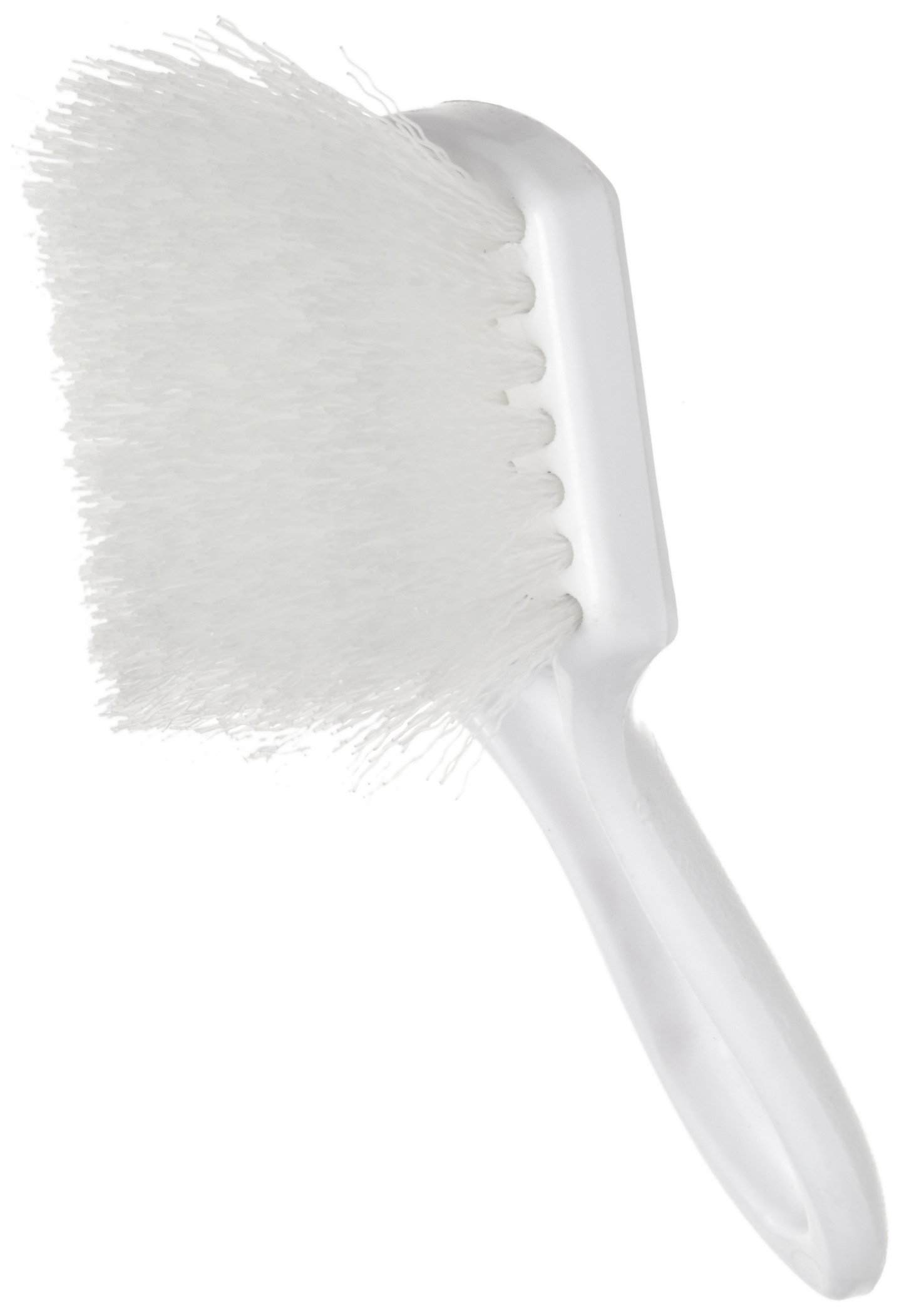 Weiler 44416 Nylon Utility Scrub Brush with Long Plastic Handle, 1-1/2'' Head Width, 8'' Overall Length