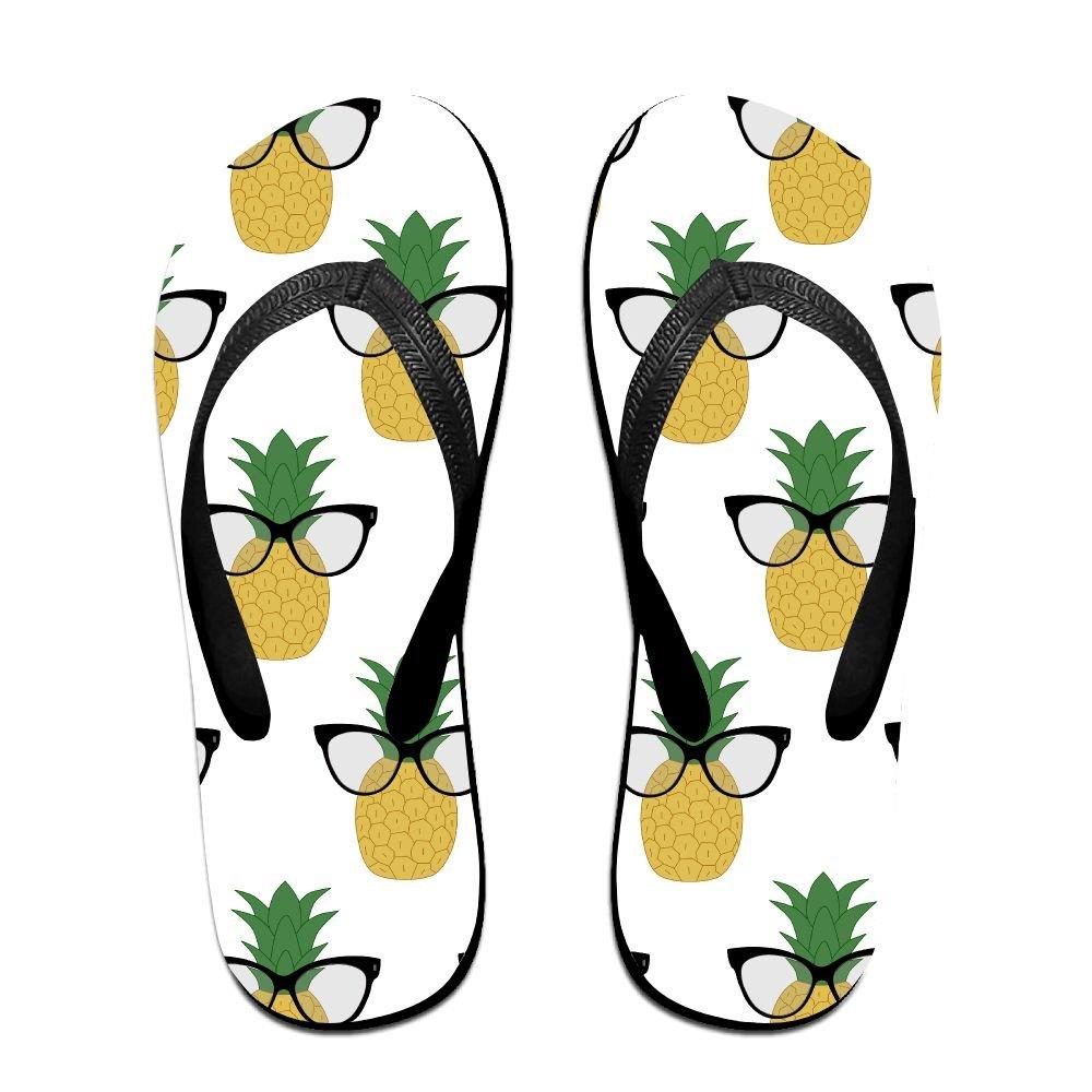 Unisex Summer Beach Slippers Sunglasses Pineapple Flip-Flop Flat Home Thong Sandal Shoes
