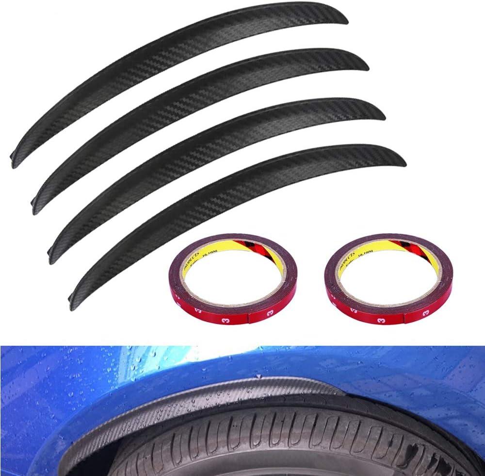 Wanyig Kotflügelverbreiterung Universal Kotflügel Verbreiterung Carbon 33cm Radlaufleiste Auto Radlaufverbreiterung Verbreiterung Auto Rad Schutz Dekoration 4 Stück Auto