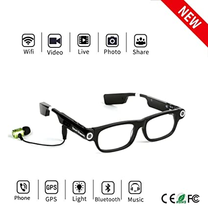 13d1746ad8 Image Unavailable. Image not available for. Color  Bluetooth Camera Glasses  8GB