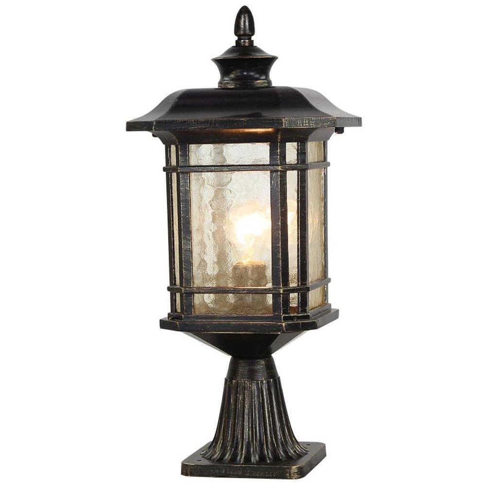 Neixy-ヨーロッパスタイルの屋外街路灯風景柱灯列ランプ外装IP65防水金属アルミ柱ランプドアプールエッジのための高輝度ガラスランプシェードと柱の結婚式のシーン B07DDGRDXK 16184