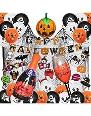 AMAYGA Halloween ballonnen, Halloween party decoraties, 56 stuks Happy Halloween banners set geestelijke ballonnen, pompoenballonnen, Halloween-banner, voor Halloween party carnaval tuindecoratie